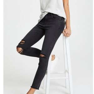 J Brand Low Rise Skinny Jeans in Black Mercy  25